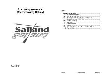 nieuwe examenreglement - Roeivereniging Salland