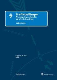Trafiktællinger. Planlægning, udførelse og ... - Vejdirektoratet