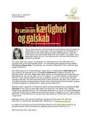 Aarhus den 10. april 2013 Pressemeddelelse ... - Den Jyske Opera