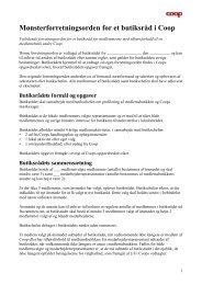 Mønsterforretningsorden for et butiksråd i Coop - forum