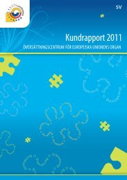 Kundrapport 2011 - Translation Centre for the Bodies of the ...