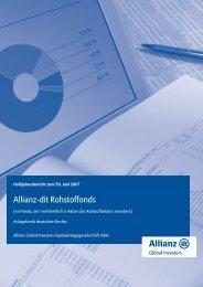Allianz-dit Rohstoffonds - FondsClever.de