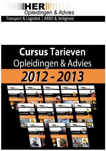 Prijslijst 2013 Pagina 1 - HER Opleidingen