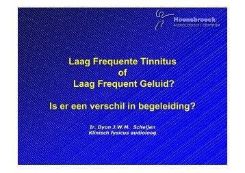 Laag Frequente Tinnitus of Laag Frequent Geluid? Is er een verschil ...
