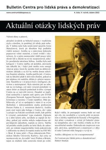 Stáhnout ( 4.01 MB ) - bulletin-v-41.pdf - Centrum pro lidská práva a ...