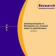 Arbeidsparticipatie en Reïntegratie van chronisch zieken en ...