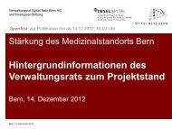 Hintergrundinformationen - Ärztegesellschaft des Kantons Bern