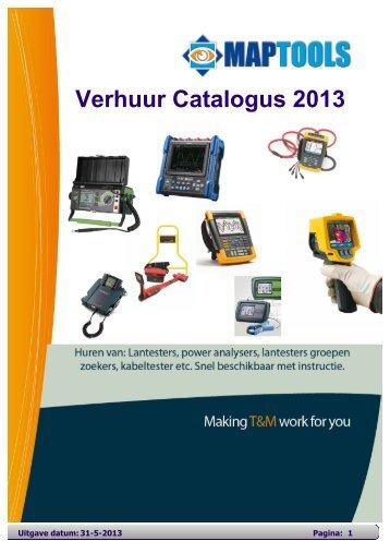 Verhuur Catalogus 2013 - MapTools BV