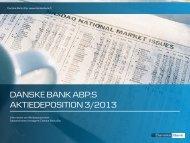 Aktiedeposition 3/2013 Produktbroschyr - Danske Bank