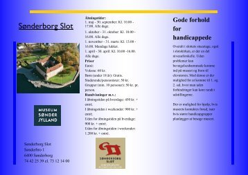 Sønderborg Slot brochure - Wordpress Wordpress