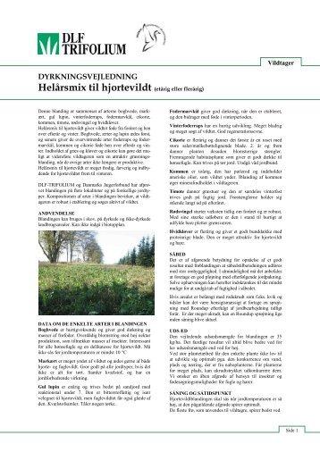 dlf trifolium vildtafgrøder