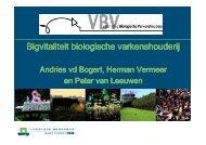 Bigvitaliteit biologische varkenshouderij HV 9nov09 - bioKennis