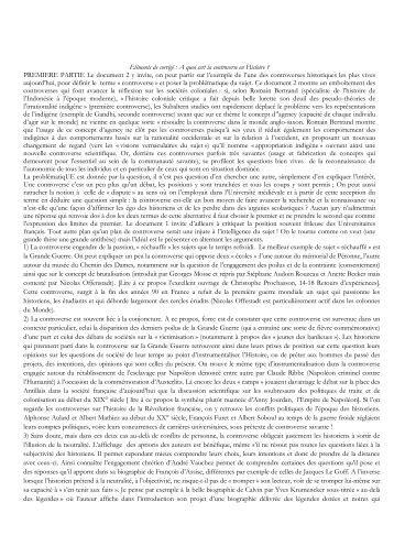 Eléments de corrigé : A quoi sert la controverse en Histoire ...