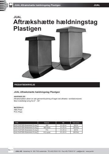 Aftrækshætte hældningstag Plastigen - JUAL