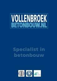 Vollenbroek brochure - Vollenbroek betonbouw