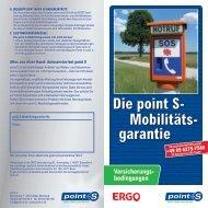 Die point S- Mobilitäts- garantie