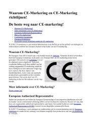 Waarom CE-Markering en CE-Markering richtlijnen! De beste weg ...