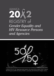 Gender Equality and HIV Resource Persons and Agencies