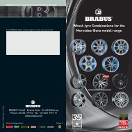 Wheel-tyre Combinations for the Mercedes-Benz model range