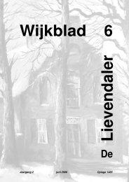 6e Lievendaler - Stichting Wijkoverleg Lievendaal