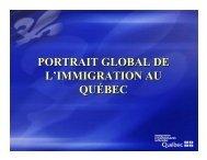portrait global de l'immigration au québec - Vivre Portneuf