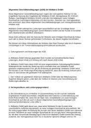 Allgemeine Geschäftsbedingungen (AGB) der Webtains GmbH ...