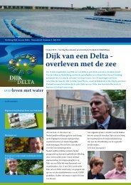 Nieuwsbrief nummer 4 juli 2011 - Dijk van een Delta