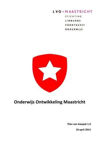 """Plan van aanpak """"Onderwijsontwikkeling Maastricht"""" (OOM)"""