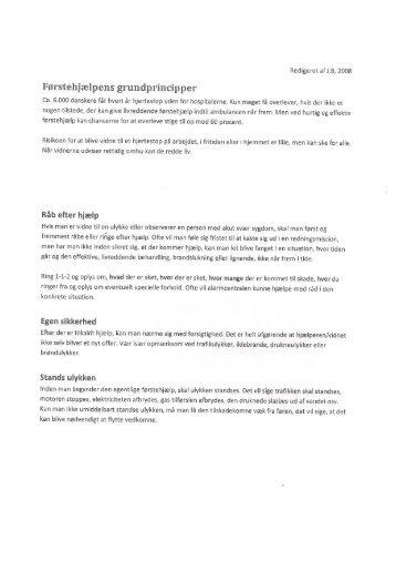 Grundprincipper ved Førstehjælp - Taxa Fyn