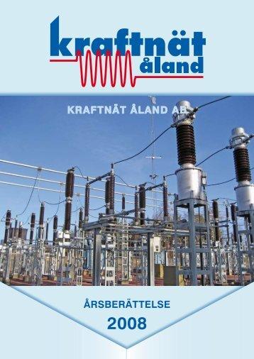 Årsberättelse 2008 - Kraftnät Åland