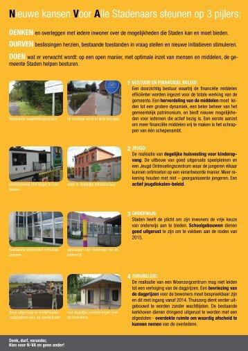 Verkiezingsprogramma 2012 - N-VA Staden