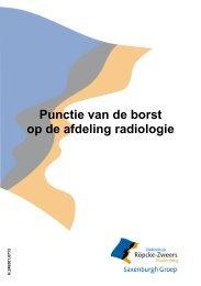 Punctie van de borst op de afdeling radiologie
