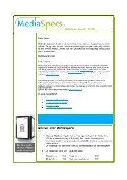 MediaSpecs News 11, 07/2009 Nederlandstalige versie