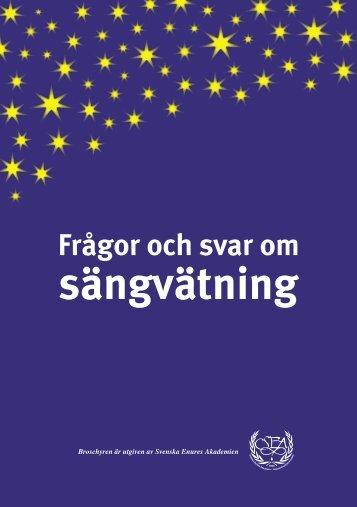 Frågor och svar om sängvätning - Sangvatning.nu