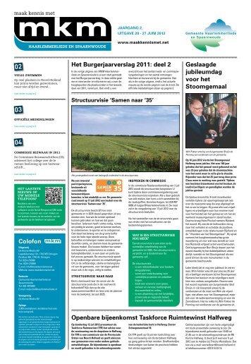 27 juni 2012 (Burgerjaarverslag deel II) - Home - Haarlemmerliede ...