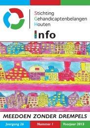 SGH-Info Voorjaar 2013 - Stichting Gehandicaptenbelangen Houten