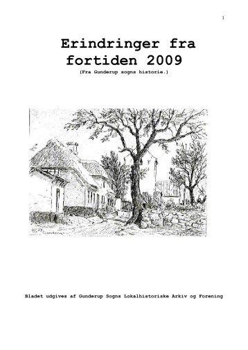 Erindringer fra fortiden 2009 - Gunderup sogns lokalhistorie