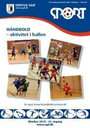 HÅNDBOLD – aktivitet i hallen - Erritsø Gymnastik- & Idrætsforening