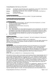 Verslag vergadering 29 mei 2013 - Wijkplatform Elst-Oost