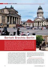 Bertolt Brechts Berlin - Journal für die Apotheke