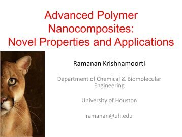 Advanced polymer nanocomposites: novel properties and applications