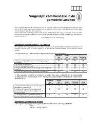 Vragenlijst: communicatie in de gemeente Lanaken - Kortom