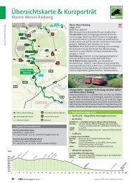 Übersichtskarte & Kurzporträt Maare-Mosel-Radweg - Eifel