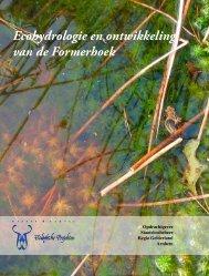 Ecohydrologie en ontwikkeling van de Formerhoek - Giesen & Geurts