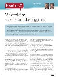 Mesterlære - den historiske baggrund. Charlotte Mejlbjerg, Birgitte ...