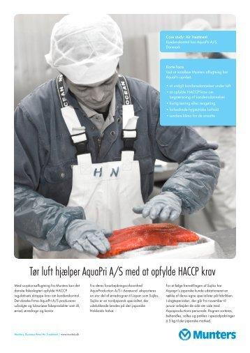 Tør luft hjælper AquaPri A/S med at opfylde HACCP krav - Munters