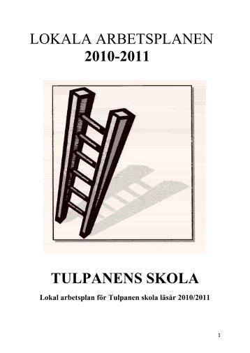 Lokal arbetsplan för Tulpanen skola - Lekeberg kommun