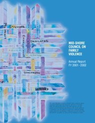 Annual Report 2002 (PDF) - Mid-Shore Council on Family Violence