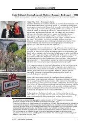 Klein Hollands Dagboek van de Maltezer Lourdes Bedevaart