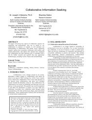 Paper - Collaborative Information Seeking